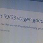Adwords Shopping examen behaald