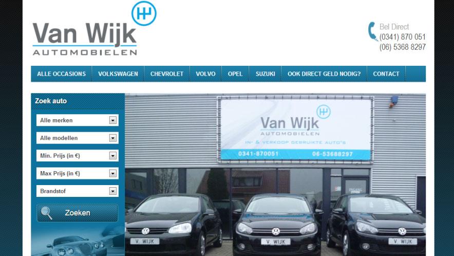 Van-Wijk-Automobielen-website-homepage