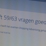 Adwords Shopping examen behaald