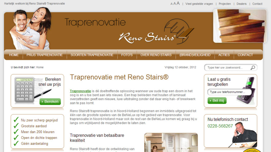 RenoStairs-traprenovatie-website-homepage